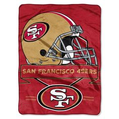 San Francisco 49ers Nfl Royal Plush Raschel (prestige Series)