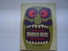 Children's Craft Book Monster Masks Vintage, via http://www.etsy.com/people/pinkbeatrice/favorites
