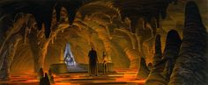 The Emperors Lava Throne Room (unused concept art for Return of the Jedi) by Ralph McQuarrie
