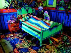 Interactive Haunted House at Transworld Haunt Show by ScareHouseScott, via… Casa Halloween, Halloween Circus, Creepy Halloween Decorations, Halloween Haunted Houses, Halloween Porch, Halloween Ideas, Halloween Maze, Halloween 2018, Creepy Carnival
