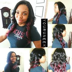 FULL sewin weave With a partial relaxer