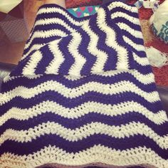 Ripple crochet baby blanket