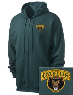 Love this simple zip-up #Baylor hoodie.