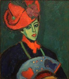 Alexej_Jawlensky_-_Schokko_with_Red_Hat_(1909).jpg (2497×2860)