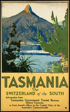 c.1930s  Visit Tasmania Switzerland of South  by InterestingPhotos, $6.95