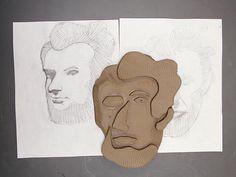 Lesson Plan 50 step re-assembled portrait Cubist Portraits, Picasso Portraits, Picasso Art, Clay Projects For Kids, Art Projects, Cubist Sculpture, Sculptures, Clay Faces, Sculpture Projects