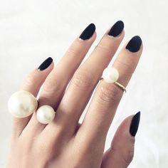 Black w pearls