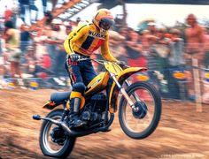 Suzuki Motocross, Suzuki Bikes, Motocross Riders, Motorcycle Racers, Racing Motorcycles, Off Road Bikes, Vintage Motocross, Bike Rider, Dirtbikes