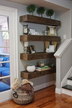 6 Easy And Cheap Cool Tips: Floating Shelf Decor Living Room farmhouse floating shelves coffee bar.Floating Shelves Under Tv Tv Walls. Floating Shelves Bedroom, Reclaimed Wood Floating Shelves, Floating Shelves Kitchen, Wooden Floating Shelves, Rustic Floating Shelves, Kitchen Shelves, Glass Shelves, Corner Shelves, Floating Wall