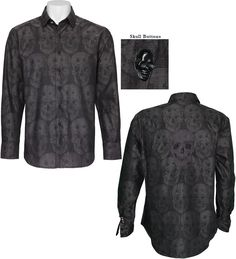 Make your mark in the Robert Graham Limited Edition Bitterline Sport Shirt featuring an exclusive, three dimensional, jacquard skull motif with an embroidered, jacquard skull on the back panel, signature black, skull buttons and contrasting roll back cuffs. The Limited Edition Sport Shirts by Robert Graham are hand numbered and in limited production. Regular Fit. Cotton. Dry Clean for Best Results.