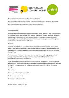 """Żądamy dymisji Jerzego Skoczylasa. """"To niedopuszczalne""""  Takie zachowanie jest absolutnie niedopuszczalne - piszą o poście radnego Jerzego Skoczylasa przedstawiciele Kongresu Kobiet, Fundacji na Rzecz Równości oraz Partii Zielonych. W liście otwartym domagają się dymisji polityka z funkcji wiceszefa rady miejskiej i komisji kultury."""