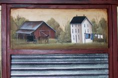 WASHBOARD SHELF PRIMITIVE FOLK ART AMISH COUNTRY LAUNDRY  HOME DECOR      RJPE