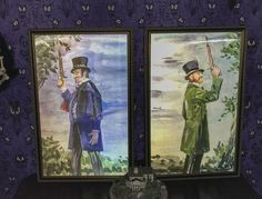 Haunted Mansion MORPHING Dueling Ghosts changing portraits Disneyland Rare 21x32