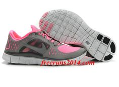 official photos 904cf d51ba Womens Nike Free Run 3 Polarized Pink Reflective Silver Sport Grey Shoes -  Click Image to
