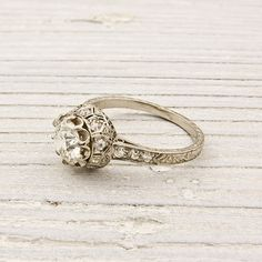 vintage engagement rings - this whole etsy shop is sweet.