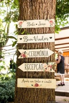 Ideias de plaquinhas para decorar seu casamento. Estilo rústico.