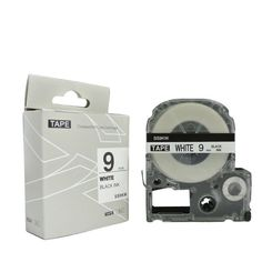 Label Tape SS9KW (LC-3WBN9) black on white 9mm*8m compatible for  Epson LW-500