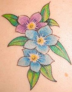 Flowers tattoo ideas forget me not 47 trendy ideas Flower Tattoo Designs, Flower Tattoos, Bird Tattoos, Forget Me Not Tattoo, Flower Girl Photos, Wild Photography, Colored Pencil Techniques, Card Patterns, Colors
