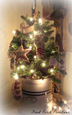 My Primitive Christmas Tree Christmas Pinterest Primitive  - Primitive Christmas Tree Ideas