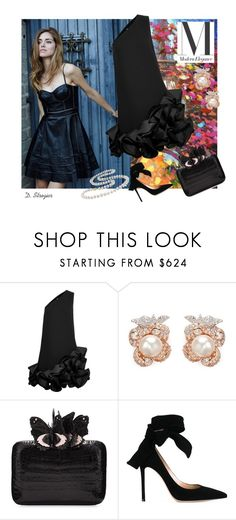 """""""Modern Elegance"""" by deborah-strozier ❤ liked on Polyvore featuring Victoria, Victoria Beckham, Anabela Chan, Nancy Gonzalez, Gianvito Rossi, Miadora, modern and dress"""