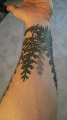 Good collections of forest tree fire full sleeve tattoo for body ...