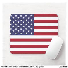 Custom Mouse Pads, Old Glory, Corner Designs, Marketing Materials, Red White Blue, Artwork Design, Flag, Stripes, Stars