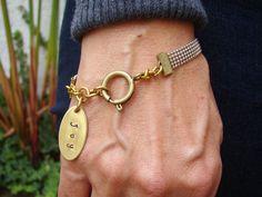 Personalized Chunky Silver Gold Joy Bracelet, Custom Bracelet, Personalized Jewelry Gift for Her
