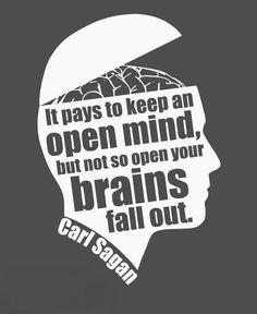 Critical thinking qute by Carl Sagan.