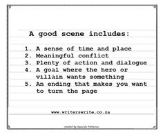 Infographic John AugustS Step Guide To Writing A Scene  Step