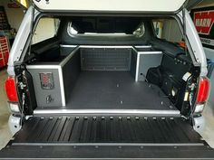 Family Overland Expeditions custom built Toyota Tacoma truck storage solution