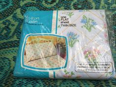 70's JC Penney Floral TWIN Size FLAT Sheet  // Sealed New in Package by ElkHugsVintage on Etsy