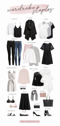 How to build a capsule wardrobe with closet staples for 2018. Style essentials and minimalist outfit ideas for summer, fall, winter and spring.