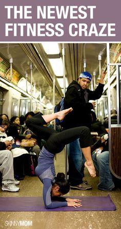 Yoga en el metro...