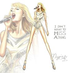 """The incredible Taylor Swift singing ""I Don't Want to Miss A Thing"". Love❤❤…"