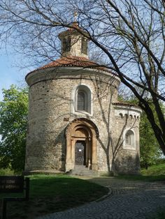 Prague's oldest building, the Rotunda of St Martin at historical fort Vysehrad, Prague, Czechia