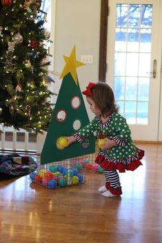 Kleur sorteerspel met thema kerst