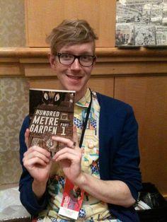 Elliot Baggott, creator of Hundred Metre Garden at SPX 2014 www.hundredmetregarden.com #SPX #SmallPressExpo #SPX2014 #IndieComics #Comics #IndependentPress #MicroPress #BookArts #Art #Illustration #ElliotBaggott #HundredMetreGarden