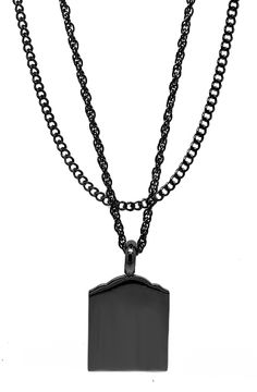 Mister Micro Tomb Necklace - Black