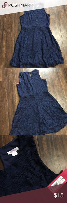 Sleeveless Navy Dress Sleeveless Navy lace dress, size medium Xhilaration Dresses Mini