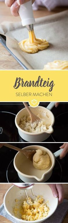 Luftige Windbeutel, hübsche Eclairs und traditioneller Spritzkuchen: diese ganz… Airy puffs, pretty eclairs and traditional cake: all these treats you can now easily make yourself. Eclairs, Easy Desserts, No Bake Desserts, Delicious Desserts, Dessert Recipes, Cheesecake Brownie, Torte Recipe, Traditional Cakes, Sweets Cake