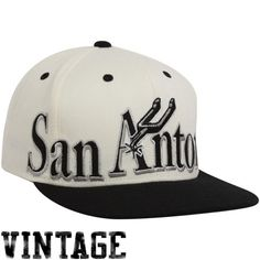 San Antonio Spurs White-Black Big Snapback Adjustable Hat