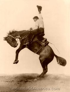 ❦ Bucking bronco, Cheyenne, WY, 1911 http://www.cheyenne.org/listings/index.cfm?action=display&listingID=78&menuID=65&hit=1