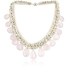 "Ranjana Khan ""Vintage Bride"" Rose Quartz Necklace - designer shoes, handbags, jewelry, watches, and fashion accessories 