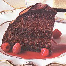 Godiva Chocolate Raspberry Mousse Truffle Cake
