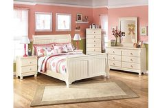 Cream Cottage Cottage Retreat Full Sleigh Bed View 3