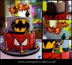 Superhero birthday cake, spiderman cake, batman cake, birthday cakes, Plymouth, Devon,