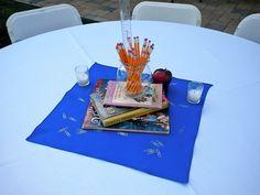 Teacher retirement centerpieces | Party Ideas