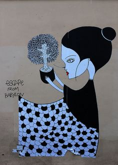 Bonsai street art Fred Le Chevalier | Flickr - Photo Sharing!