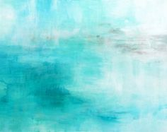 Original Abstract Painting blue gold deep coral by VictoriaKloch