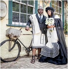 A Gorgeous Sotho Bride In A Stunning Xhosa Cape Dress - South African Wedding Bl. - A Gorgeous Sotho Bride In A Stunning Xhosa Cape Dress – South African Wedding Bl … - African Fashion Skirts, South African Fashion, African Fashion Designers, Africa Fashion, Wedding Dresses South Africa, African Wedding Theme, South African Weddings, Xhosa Attire, African Attire